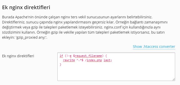 Nginx WordPress Htaccess